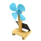 DIY Educational Assembly Solor-Powered Fan Kit - Wood Color