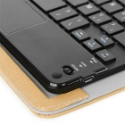 "Bluetooth Touch Keyboard w/ PU Case for 7~8"" Tablet - Golden + Black"