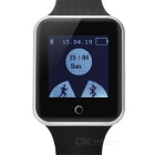 """1.5"""" Sapphire Crystal Touch Screen Silicone Band Bluetooth V3.0 Smart Watch w/ Pedometer - Black"""