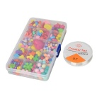 DIY Educational Acrylic Beads Set Toy for Kids - Red + Yellow + Multicolor (300 PCS)