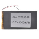 "Universal Replacement 3.7V 3500mAh  Li-polymer Battery for 7~10"" Tablet PC - Black (37 x 66 x 125)"