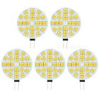 G4 5W LED Light Emitter Boards Warm White 3200K 200lm SMD 5050 - White + Beige (DC 12V / 5 PCS)