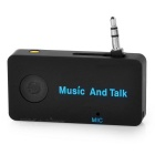 Bluetooth v3.0 Music Receiver Adapter w/ Hands-Free - Black (3.5mm Plug)