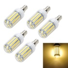 Marsing E14 12W LED Corn Bulbs Warm White 69-SMD 1200lm 6500K (5PCS)