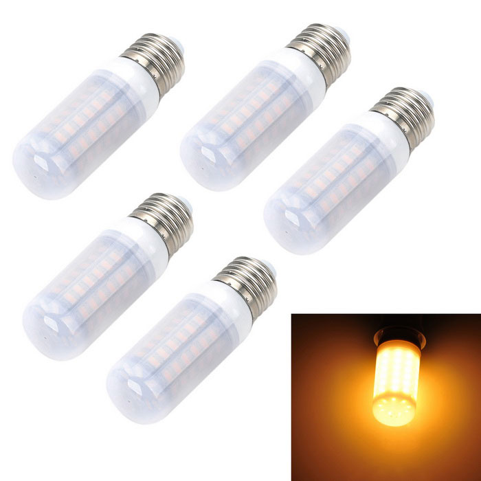Marsing E27 12W LED Light Bulbs Warm White 3000K 1200lm 69-SMD (5PCS)
