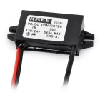 12V / 24V to 5V Mini USB Car Power Converter - Black