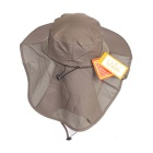 Unisex Sun Block UV Care Outdoor Hiking Fishing Hat - Army Green