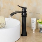 Contemporary Fashionable Oil-rubbed Bronze Heightening Bathroom Basin Faucet - Black