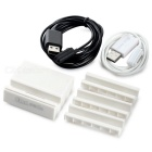 Mini Smile Charging Dock + 4-Card Slots + Magnetic Cable Set - White