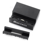 Mini Smile Charging Dock + 4*Card Slots + Magnetic Cable Set - Black