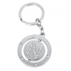 Buy Double Side Round Stainless Keychain Ring Letter N