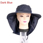 Unisex Sun Block UV Care Outdoor Hiking Fishing Hat Cap - Deep Blue