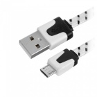 Cwxuan UNS-612 US Plugss 3-Port USB Charger + 2m Micro USB Cable - White
