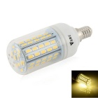 WaLangTing E14 7W LED Corn Lamp Warm White 3200K 500lm 72-SMD 5730 - White (110~240V)
