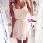 Fashion LIghtweight Chiffon Dress - White (M)