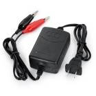 12V Smart Battery Charger for Motorcycle / Electric Cars - Black + Red
