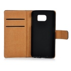 MINI SMILE Split Leather + ABS Case for Samsung Galaxy S6 - Black