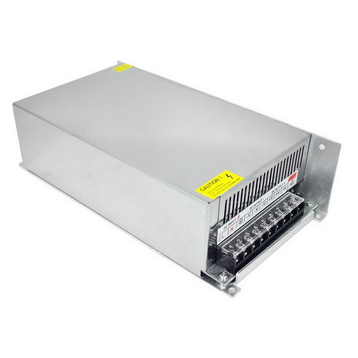 170~250V to DC 12V 50A 600W High Power Switching Power Supply - Silver