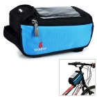 YANHO Bicycle Bike Nylon Top Tube Bag for GPS / Cellphone - Blue (1.5L)