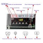 85~265V to DC 12V 2.1A 25W Security Switching Power Supply - Silver