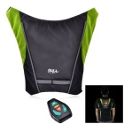 Bikeman Safety Warning R/C Signal Lamp Vest for Cycling - Dark Gray + Black