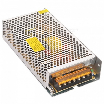 DC 24V 5A 120W Switching Power Supply for LED Strip - Silver