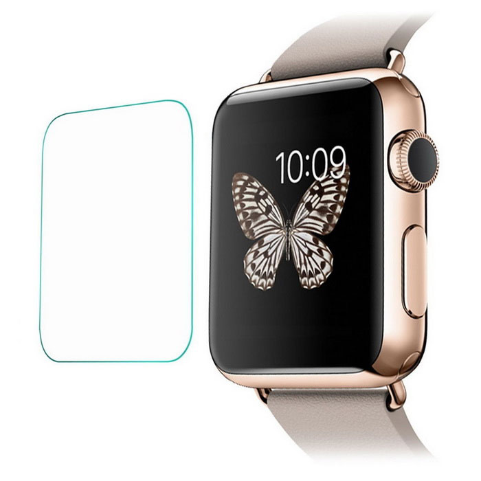 Tempered Glass Dial Screen Film for 42mm APPLE WATCH - TransparentScreen Protectors<br>Screen TypeClearQuantity1 pieceMaterialTempered glassForm  ColorTransparentCompatible ModelsOthers,APPLE WATCHStyleScreen protectorScreen FeaturesScratch Proof,Fingerprint Proof,Explosion Proof,Anti GlarePacking List1 x Screen protector<br>
