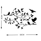 2015XH-aaw2 Black Twig Bird Bedroom Wall Stickers Wall Decal Removable Art Home Decor