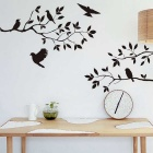 Twig Bird Bedroom Wall Stickers Decal Removable Art Home Decor - Black