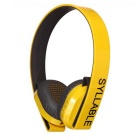 Syllable G600 Bluetooth v4.0 40mm Headphone w/ Mic - Yellow + Black
