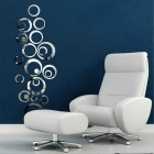 DIY Sweet Circles Mirror Style Removable Decal Vinyl Art Wall Sticker Home Decor - Silver (1 Set)