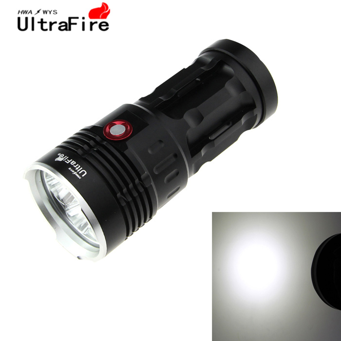 Ultrafire 720lm 8-LED Cool White 3-Mode Flashlight Torch - Black