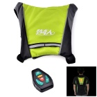 Bikeman YKGJ-B0011 Safety Warning R/C Signal Lamp Vest for Cycling - Fluorescent Green + Black