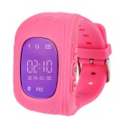2015 Smart GPS Watch Positioning of Mobile Phone Tracker for Kids Child Older - Deep Pink