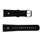 Replacement Split Leather Watch Band Strap w/ Rhinestones for APPLE WATCH 38mm - Black + Silver