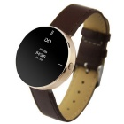 "IDO ONE 0.66"" OLED Bluetooth v4.0 Smart Watch w/ Pedometer for iOS / Android Devices - Brown + Gold"