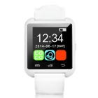 "1.5"" Bluetooth V4.1 Wrist Smart Watch w/ Pedometer, SMS, Anti-Lost for IOS / Android Phones - White"