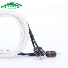 Auto Car Dual RCA Male Composite AV Cable - White + Black (2m)