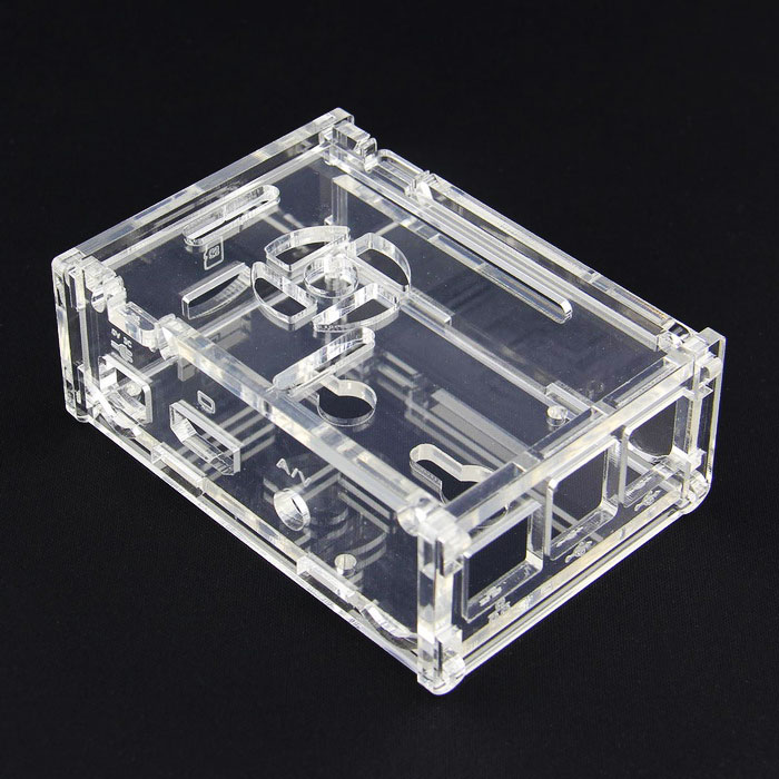 Protective Acrylic Case Shell for Raspberry Pi 2 Model B / B+ (V33)