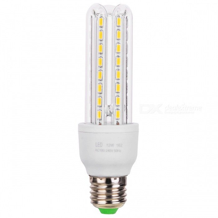 E27 12W 3U-Shaped LED Corn Lamp Warm White 3000K 1800lm 48-SMD - White