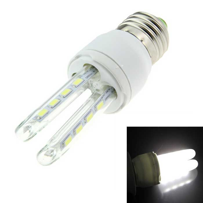 E27 5W 2U-Shaped LED lámpara de maíz blanco azulado 300lm 16-SMD (ac 85 ~ 265V)