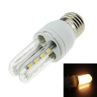 E27 5W Warm White 16-LED 2U Corn Light Energy-Saving Lamp - White