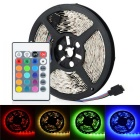 HML Non-Waterproof 72W 300-SMD 5050 RGB Light Strip w/ 24-Key RGB Remote Controller (12V, 5m)