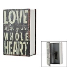 Love Pattern Money / Jewelry / Diary Storage Code Coin Bank Box - Black + Multicolor (S)