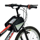 "INBIKE IB219 Cycling Top Tube Oxford Dual Bag for 5.7"" Phones - Black"
