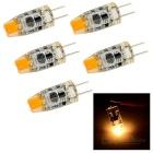G4 2W COB LED Lamps Warm White 3500K 100lm - Orange + Black (5PCS)