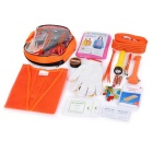 SDBL 68-in-1 Medical Gauzes + Flashlight + Hammer Car Emergency Safety Tool Bag - Orange + Grey