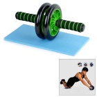 Health & Fitness Abdominal Muscle Training Equipment Power Roller Wheel - Black + Green