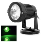 3W COB LED Lawn / Yard Spotlight Green Light 110lm 530nm - Black (AC 85~265V)