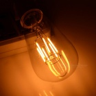 E27 4W 513lm LED Filament Bulb Warm White 2000K - Transparent + Silver